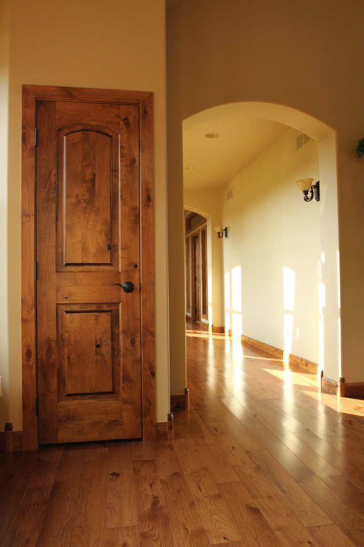 Rustic wood interior doors - Interior Doors Knotty Alder 2 Panel Arch Top Door Is Perfect For A Rustic Home
