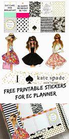 BelindaSelene: Erin Condren Kate Spade Inspired Weekly Page