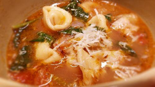 Brodo di Pollo - ricotta e spinach tortellini in a chicken broth