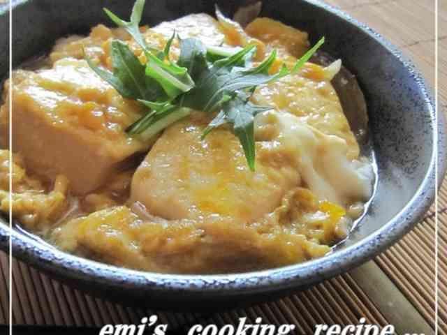 甘辛豆腐の卵とじの画像