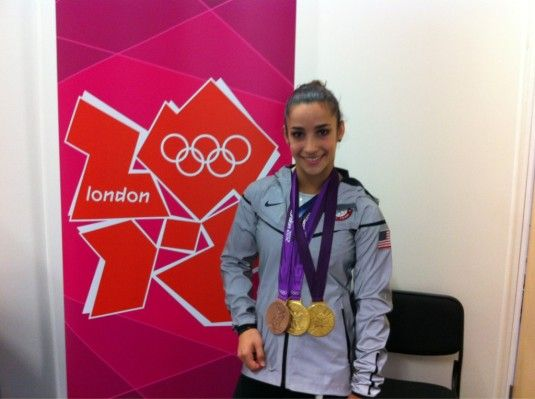 Aly Raisman with her team and floor gold medals and beam bronze medal  #gymnastics  #2012 Olympics