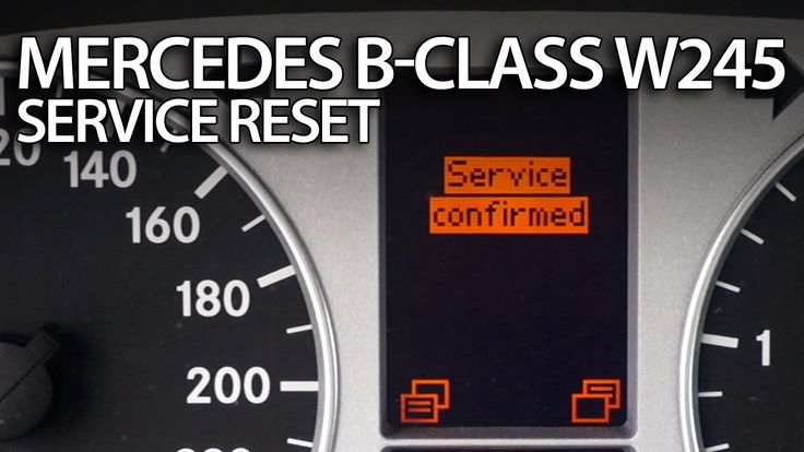How to #reset #service reminder in #Mercedes #W245 B-Class #inspection message #cars