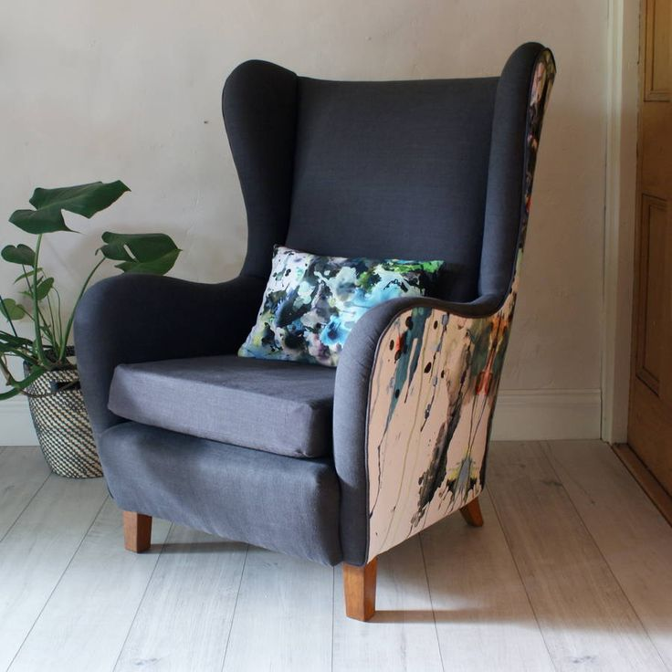 1950s Lounge Armchairs Re Upholstered In Multicolored: 1950s Graffiti Chair In 2019