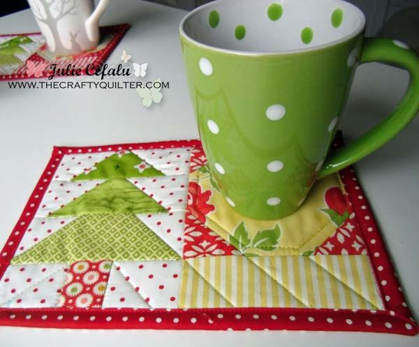 The Crafty Quilter   3 more mug rugs and a pattern correction   http://thecraftyquilter.com