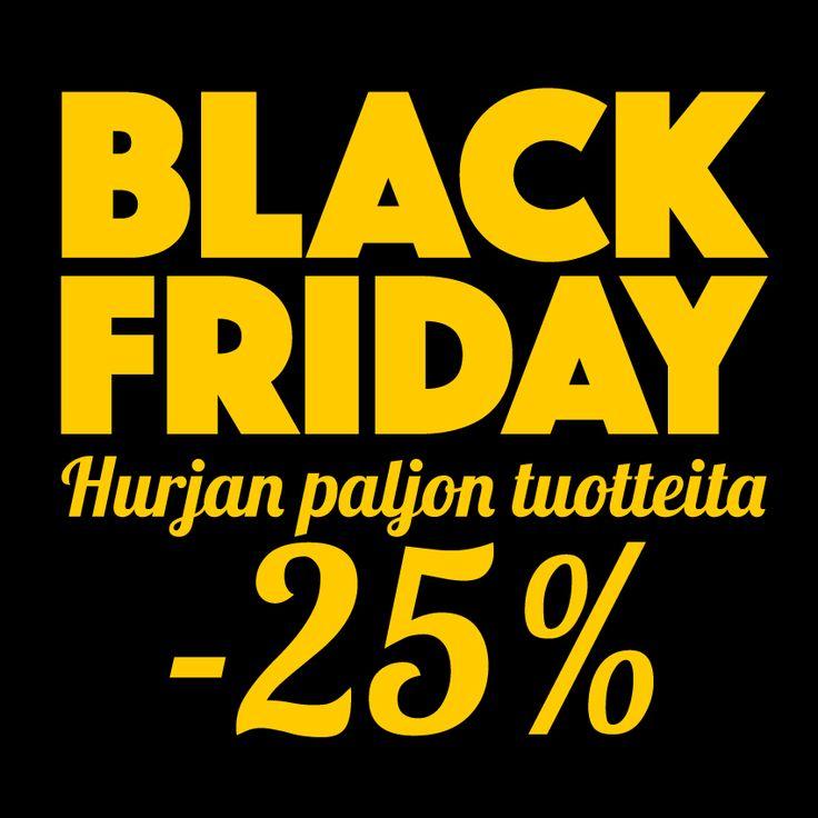 BLACK FRIDAY on vallannut verkkokauppamme! Saat hurjan paljon tuotteita 25% alennuksella. Tarjous on voimassa vain 25.11.2016 verkkokaupassamme. www.kuvaverkko.fi #blackfriday #ale #joululahja #kuvatuote