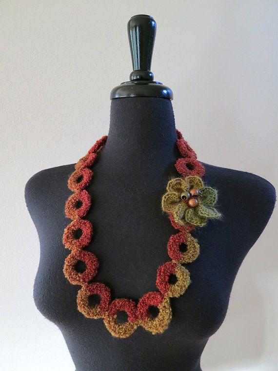 Dark Gray Brown Khaki Color Statement Crochet от KnitsomeStudio