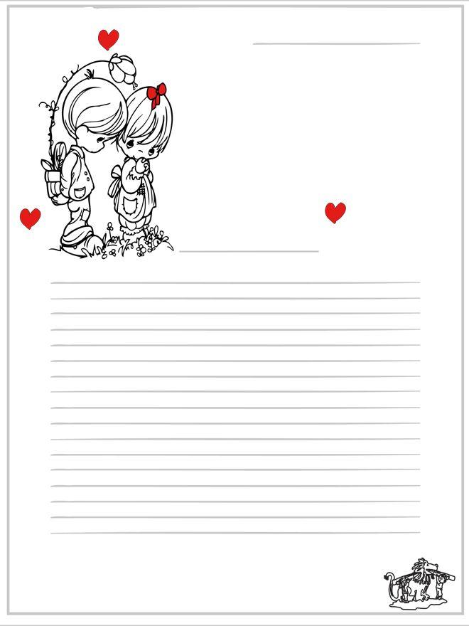Briefpapier: Voorgestructureerd. Plaats, datum = rechts bovenin. Aanhef aan de voet van het plaatje.