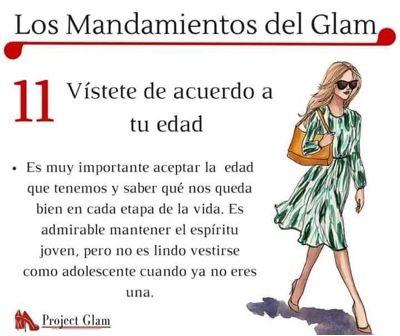 Resultado de imagen para los mandamientos del glam