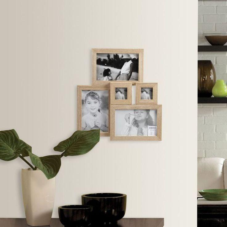 decorar paredes con fotos marco de madera portafotos mltiple