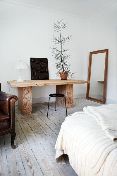 Scandinavische slaapkamer.