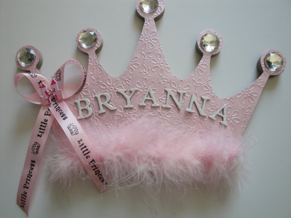 Princess Crown Wall Decor Name by BearySpecialScrappin on Etsy, $25.00