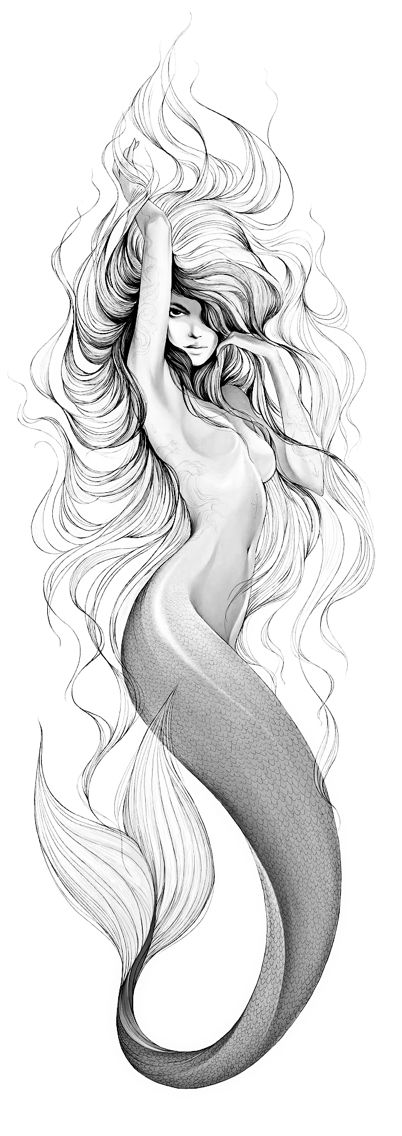 Mermaid tattoo idea visit today! More