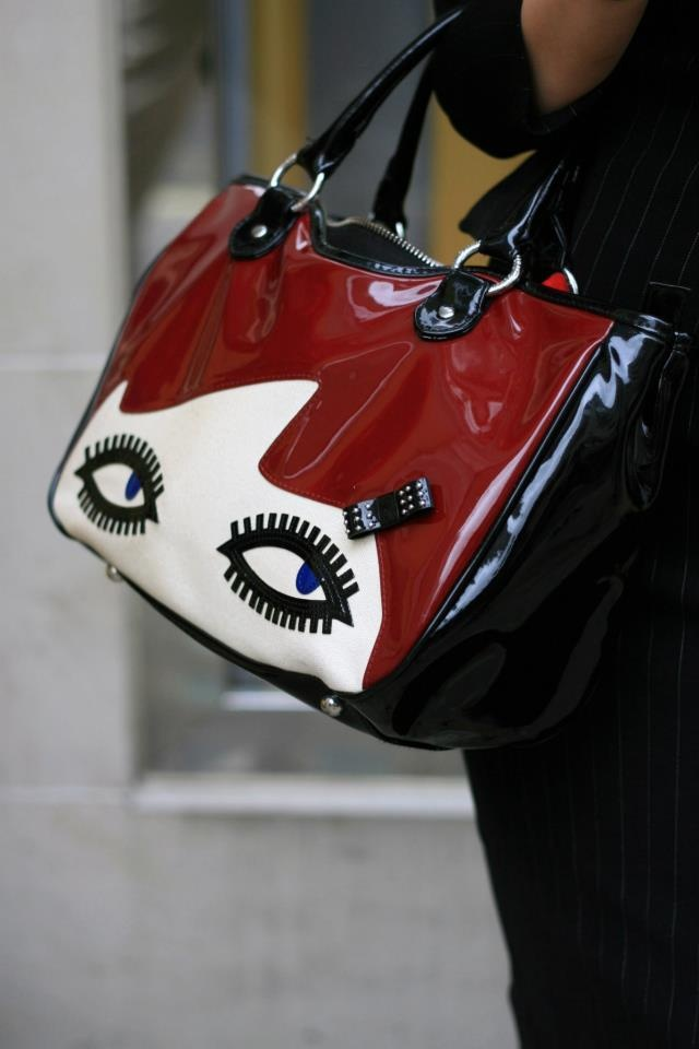 Lulu Guinness bag .Quirky and cute. Details In Streetstyle