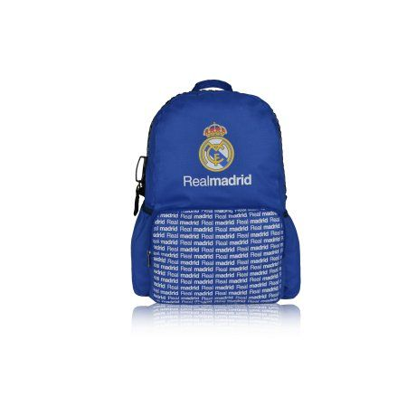 Real Madrid Backpack Xl Zipper With 2 Compartments, White