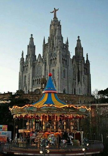 Tibidabo en Barcelona. España