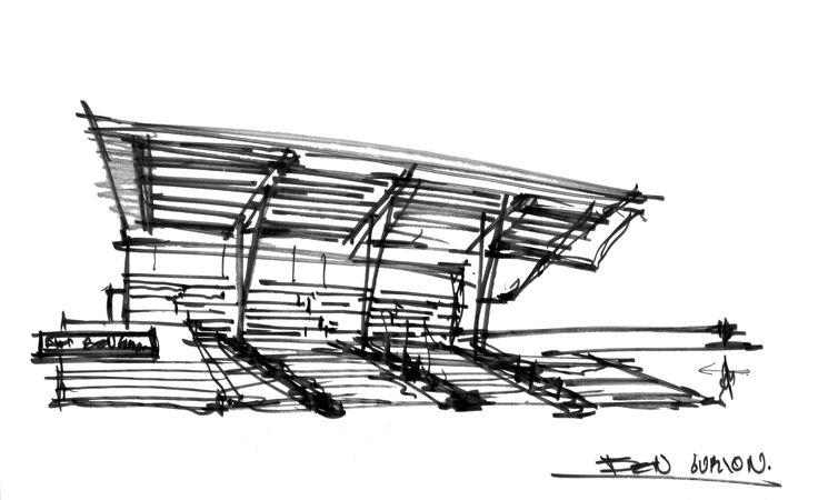 """""""Teatro Auditorio Gota de Plata"""" La premisa de diseño fue lograr el reflejo de la obra plástica en la cubierta exterior del Auditorio, generando un auténtico espejo de 60 x 14 metros a partir de bandas cristal espejo que reflejan y reinterpretan la obra plástica.  Conoce más en: http://migdal.com.mx/proyectos/teatro-auditorio-gota-de-plata/"""