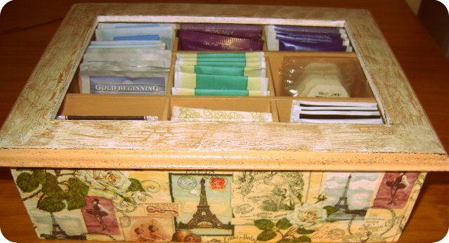 Caja de te Vintage!, $120 en https://ofeliafeliz.com.ar