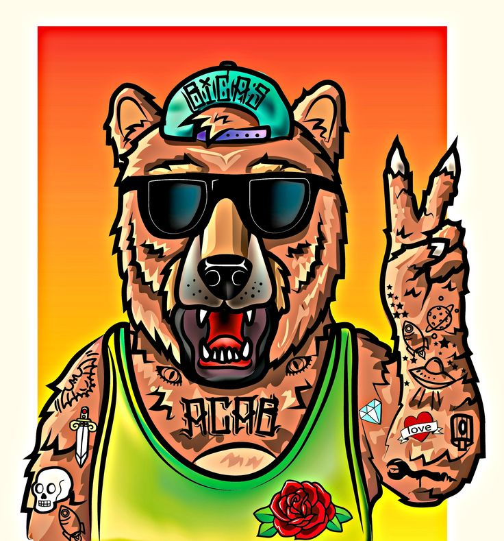 ber, ilustracion ,  ilustration , tradicional tatto , oso , fresh
