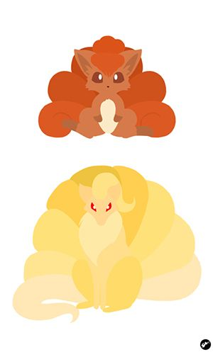Vulpix and Ninetales. They were my favorite Pokémon when I was little :)