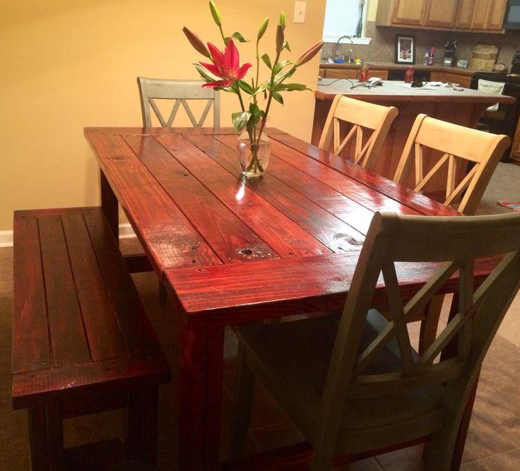 Farmhouse Table U0026 Bench