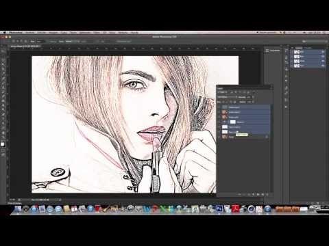 Tutorial Photoshop CS6 en español: Fotografía a Dibujo - YouTube