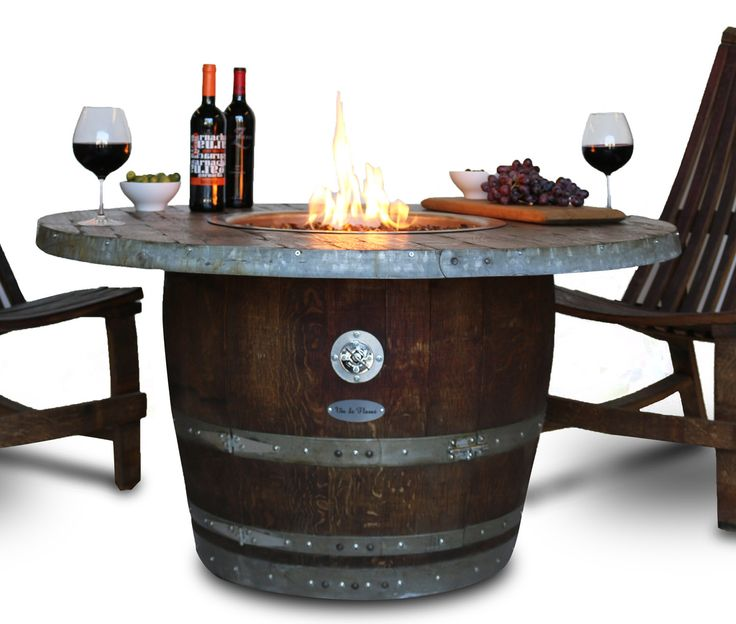 7 Best Vin De Flame Wine Barrel Fire Pit Images On
