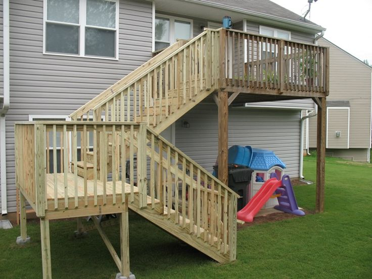 Build Wood Deck Stairs And Landing: 17 Best Images About Deck Images On Pinterest