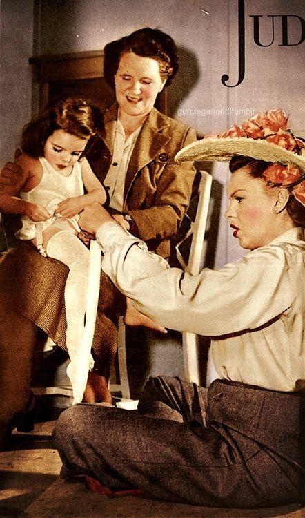 Judy Garland y su hija Liza Minnelli