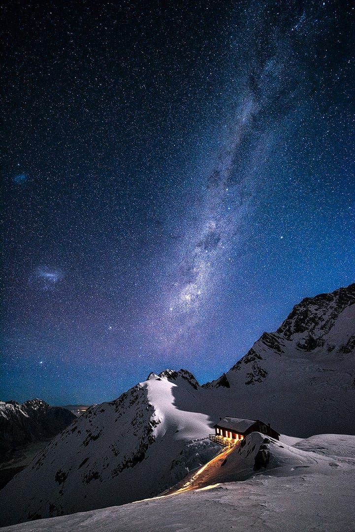 Today some friends from One Of A Kind Extreme Photography Adventures got back from a night up at Plateau Hut, Mt Cook, New Zealand. It bought back some fond memories of my time up there last year. Freezing cold but a great time.