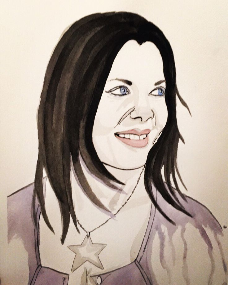"Joanie""Chyna"" Laurer tribute watercolor painting"