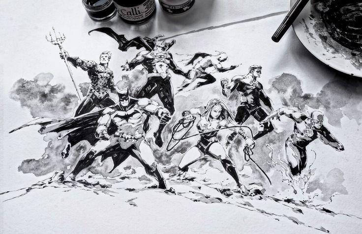 The Justice League by KaelNgu