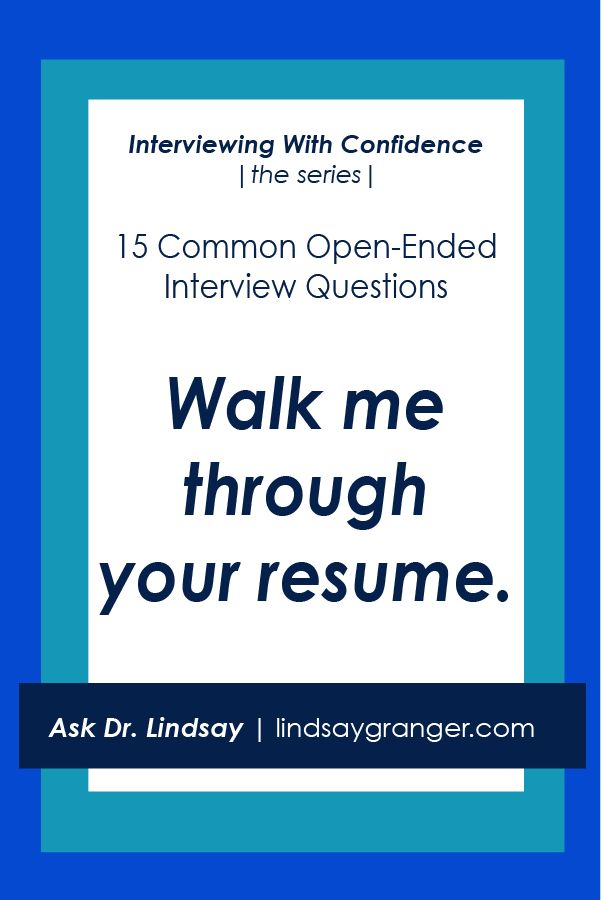 15 Common Interview Questions + How to Answer Them | Walk me through your resume.