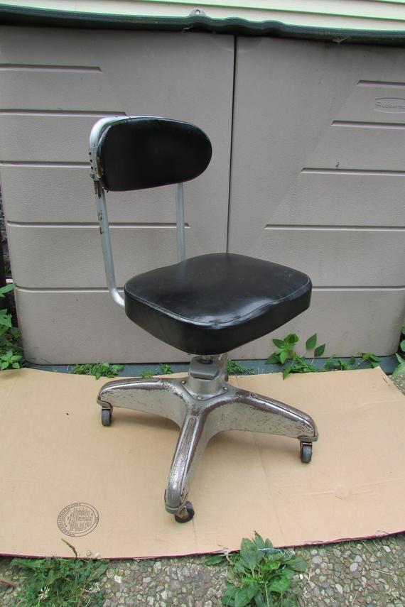 Industrial Steampunk Office Chair Vintage Globe Cosco Black Mid Century Modern Rolling Office Desk T Office Chair Vintage Globe Steampunk Office
