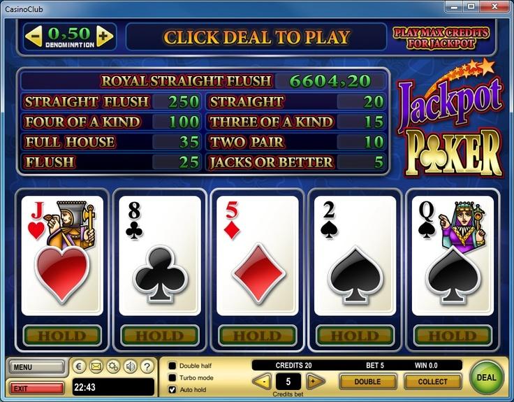 +0.5% player edge video poker jackpot