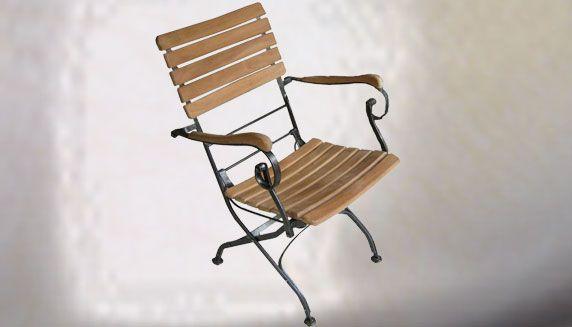 Metal TeakOutdoor Folding Chairs