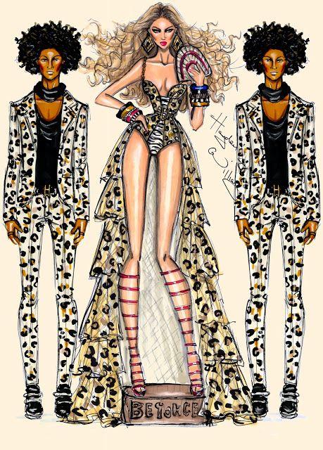 #Hayden Williams Fashion Illustrations  #Beyoncé - Grown Woman by Hayden Williams