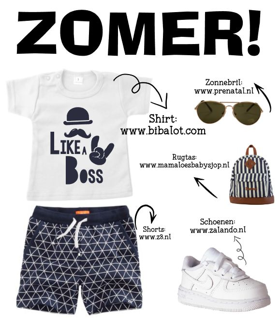 Like a boss! Super stoer te combineren met leuke Nikes, een stoere korte broek van z8, een zonnebril en een leuke rugtas! En dat alles met navy blauw! WAUW!