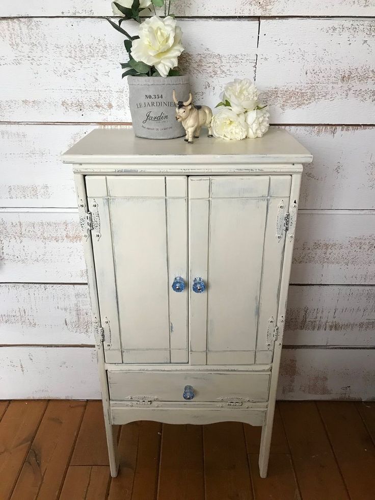 Small Accent Cabinet in Old White Chalk Paint™ by Annie Sloan  The Passionate Home - Langley