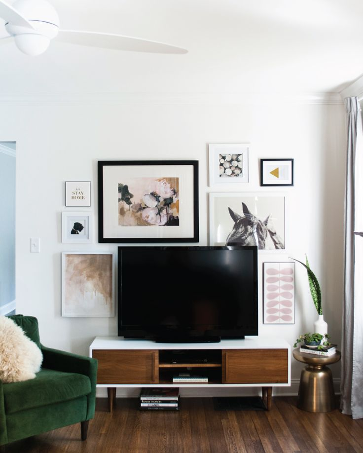 You might remember reading about my issue with our bulky TV and my plan to hide it. I'm happy to say we finally installed our gallery wall around the entertainment area. I might add a few small wor...