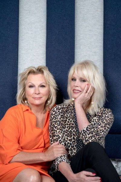 Jennifer Saunders with Joanna