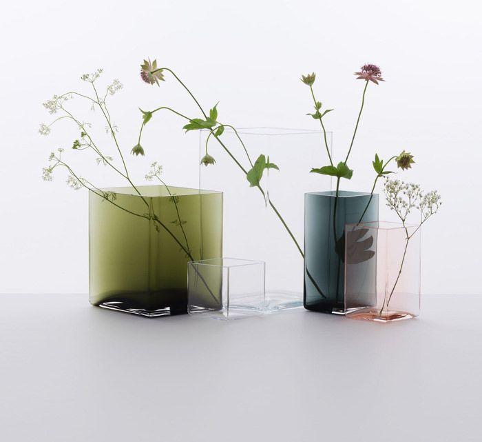 Collection de Vases colorés Ruutu Vases par Ronan et Erwan Bouroullec