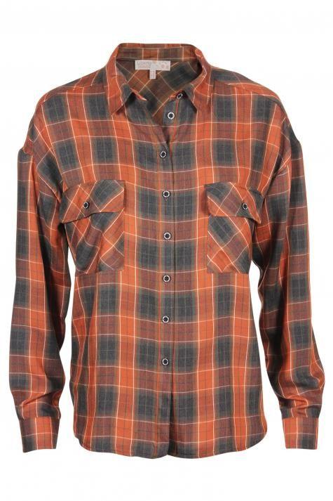 Vergroot - Bruin geruit hemd
