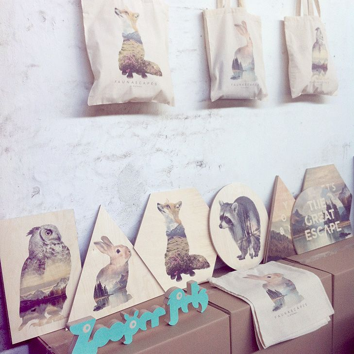 Faunascapes Plywood Prints - Now as tote bags #faunascapes #totebag #plywood