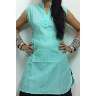 Spring Green Kurti By Gossip Fashion.   A perfect pick for fashion-conscious women, this kurti from GOSSIP FASHION will lend you a look worth flaunting. Featuring an eye-catching print, this kurti will get you noticed. Made from 100% Cotton, this regular-fit tunic is lightweight and offers sweat-free comfort all day long.  @ShopClues India