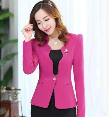 2014 nueva moda mujer invierno delgada capa Casual chaquetas de manga larga con cuello en v negro rojo un botón del juego de OL abrigos XXL #918(China (Mainland))