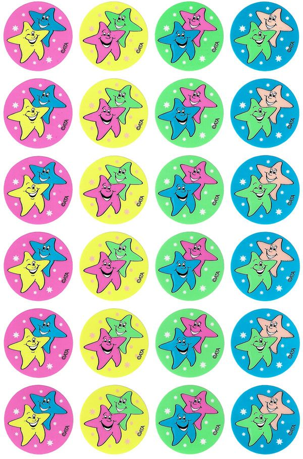 96 star themed fluoro stickers to reward students or decorate the classroom. Read More →