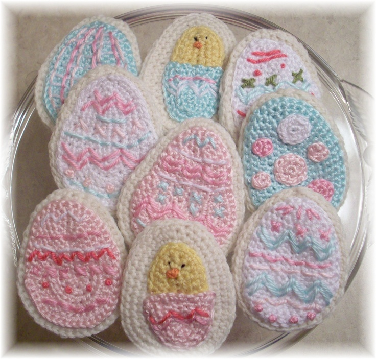 Crochet Patterns Easter : Crochet Easter Egg Sugar Cookies Crochet Spring and Easter Pinter ...