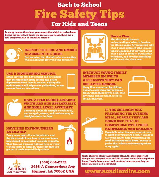 Keep a peace of mind with these back to school fire safety