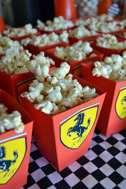 Ferrari Logo Popcorn Boxes                                                                                                                                                     More