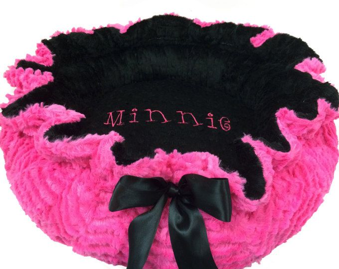 XL Dog Bed Pet Bed Personalized Dog Bed Pink and by OnePoshPup